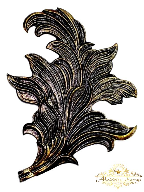 Кованый лист 16 х 20 см (арт. 3110)