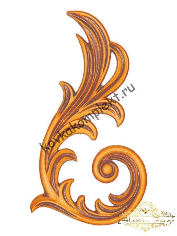 Декоративный узор 13 х 23 см (арт. 3255)