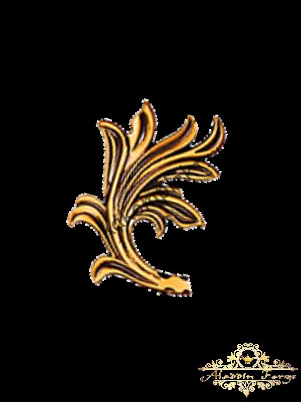 Кованый лист 10 х 13,5 см (арт. 3115)