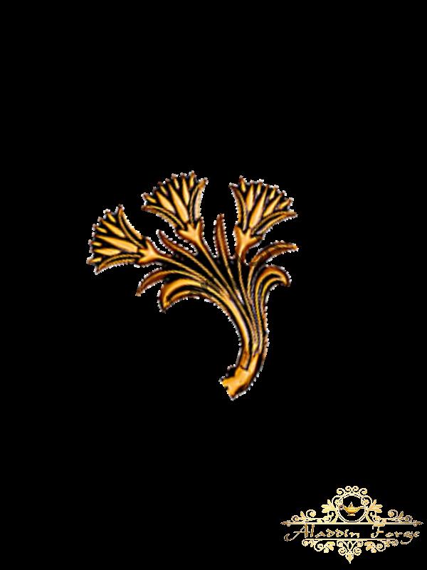 Кованый лист 12 х 13 см (арт. 3123)