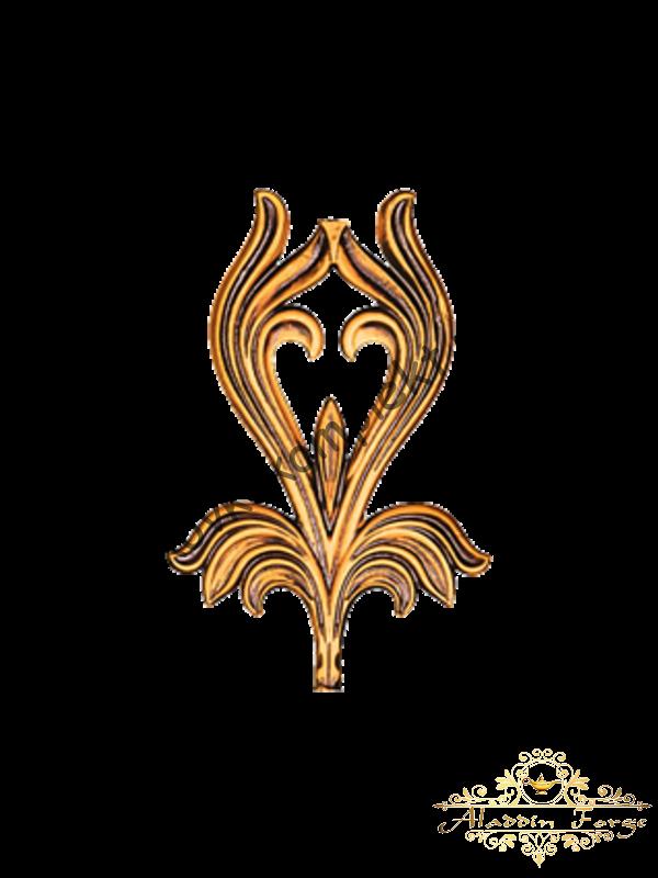 Кованый лист 15 х 24 см (арт. 3253)