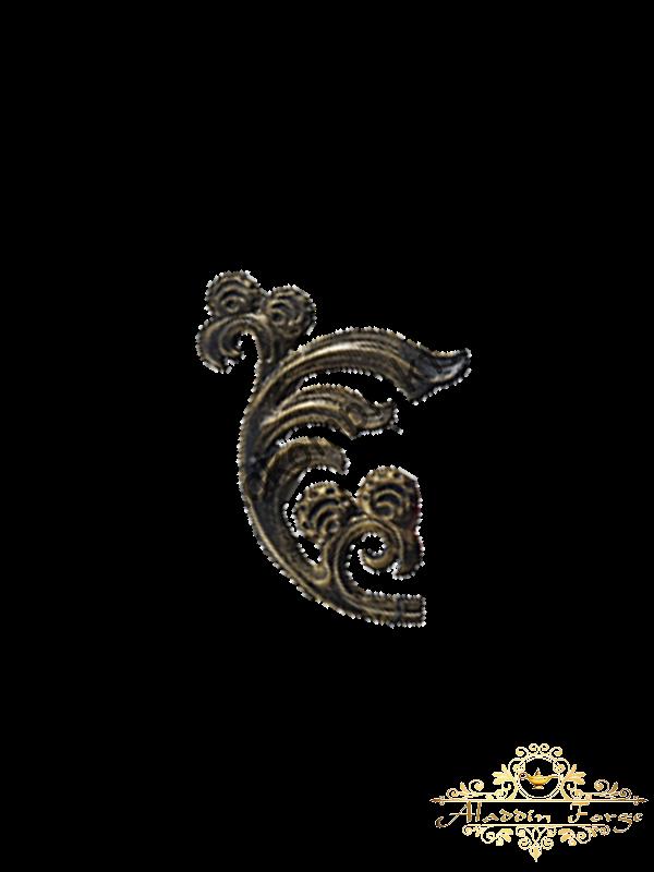 Кованый лист 17 х 23,5 см (арт. 3137)