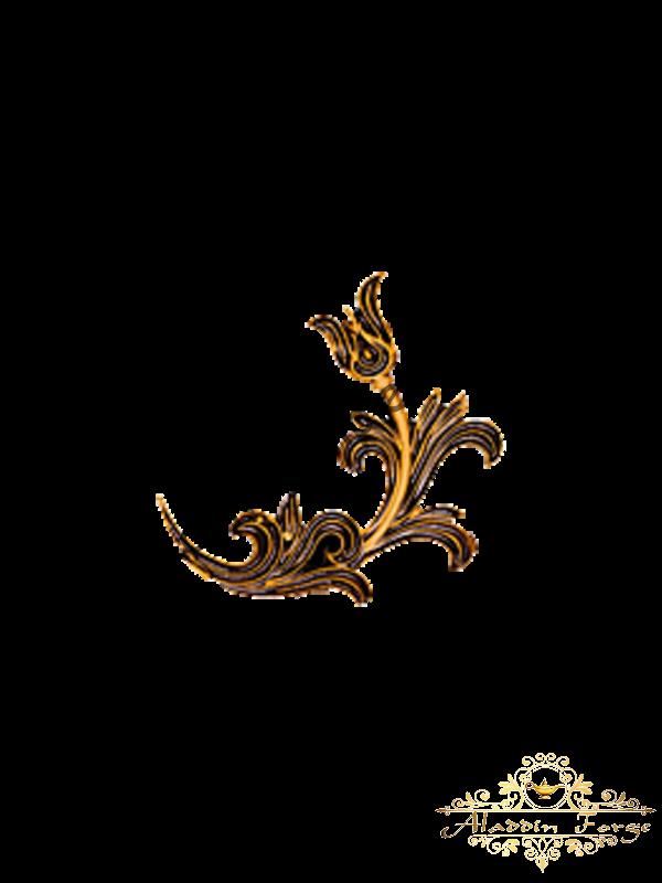 Кованый лист 15 х 18 см (арт. 3127)