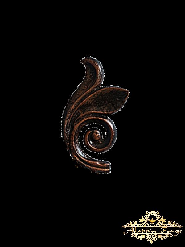 Кованый лист 6 х 11,5 см (арт. 3141)