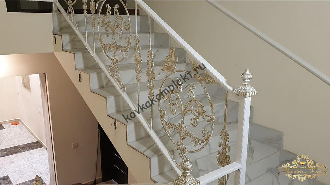 Кованые перила (лестница19)