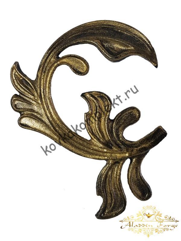Кованый лист 15 х 18 см (арт. 3134)