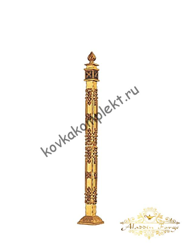 Столб кованый для перил 12 × 110 см (арт. 1904)