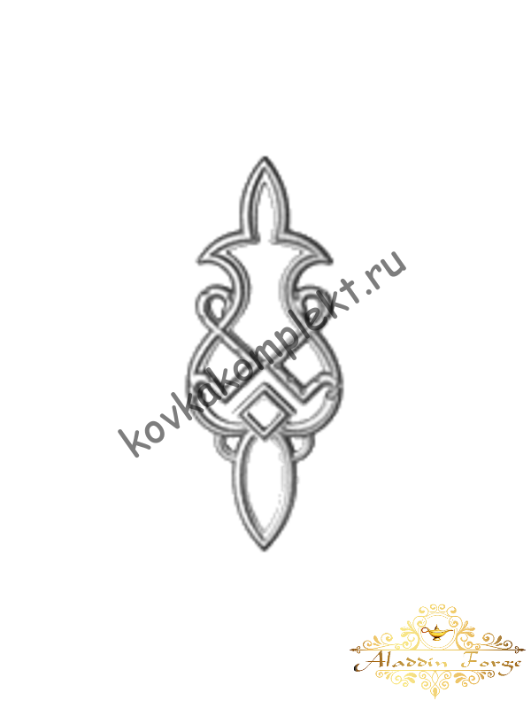 Декоративный узор 12 х 31 см (арт. 4015)