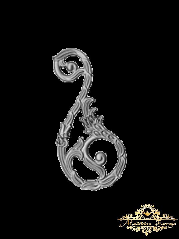 Декоративный узор 12 х 26,5 см (арт. 4019)