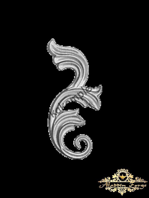 Декоративный узор 9 х 22 см (арт. 4023)
