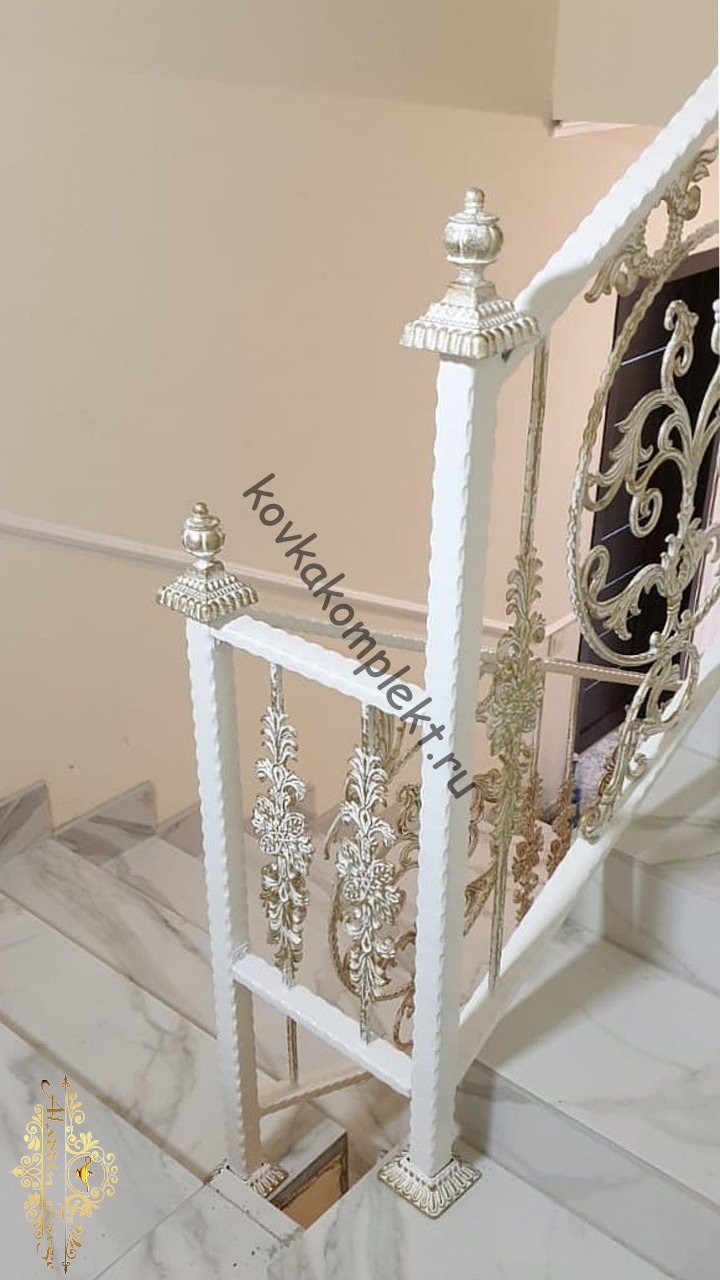 Кованые перила (лестница18)