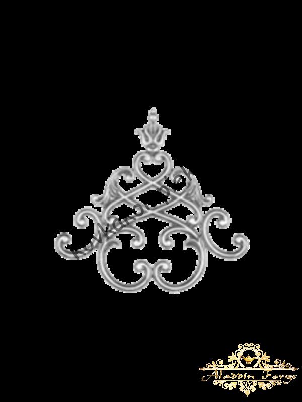 Кованая литая накладка (арт. 3633)