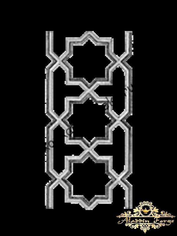 Декоративный узор (полоса) 42 х 20 см (арт. 4046)