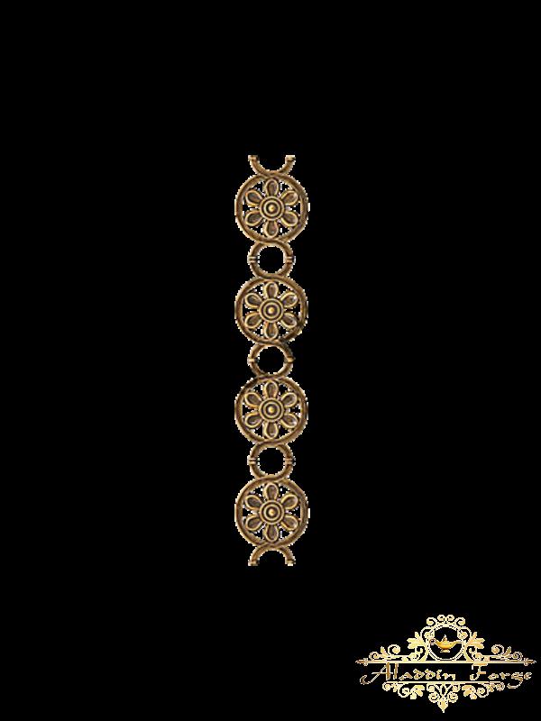 Кованая литая накладка (арт. 3639)