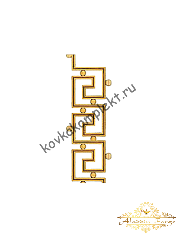 Декоративный узор (полоса) 39,5 х 20 см (арт. 4043)