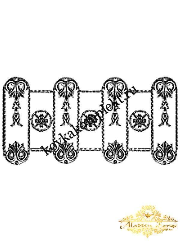 Розетка кованая 40 х 80 см (арт. 8618)