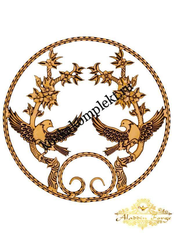 Розетка кованая 50 х 50 см (арт. 8116)