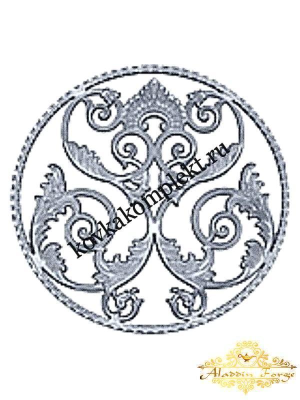 Розетка кованая 50 х 50 см (арт. 8626)