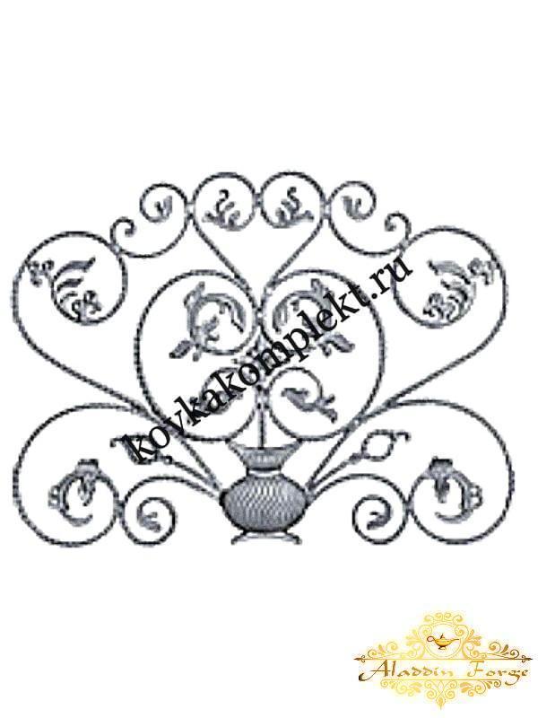 Розетка кованная 120 х 90 см (арт. 8611)