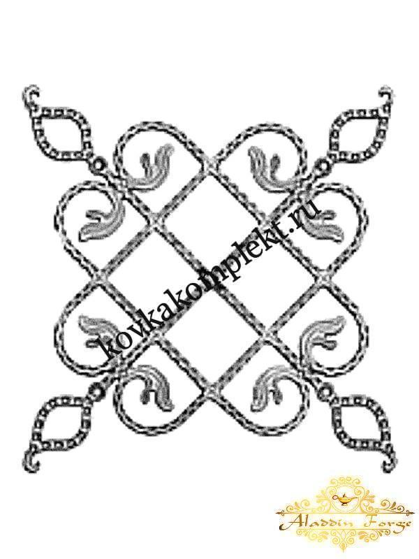 Розетка кованная 50 х 50 см (арт. 8615)