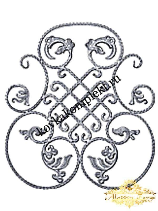 Розетка кованная 80 х 90 см (арт. 8614)