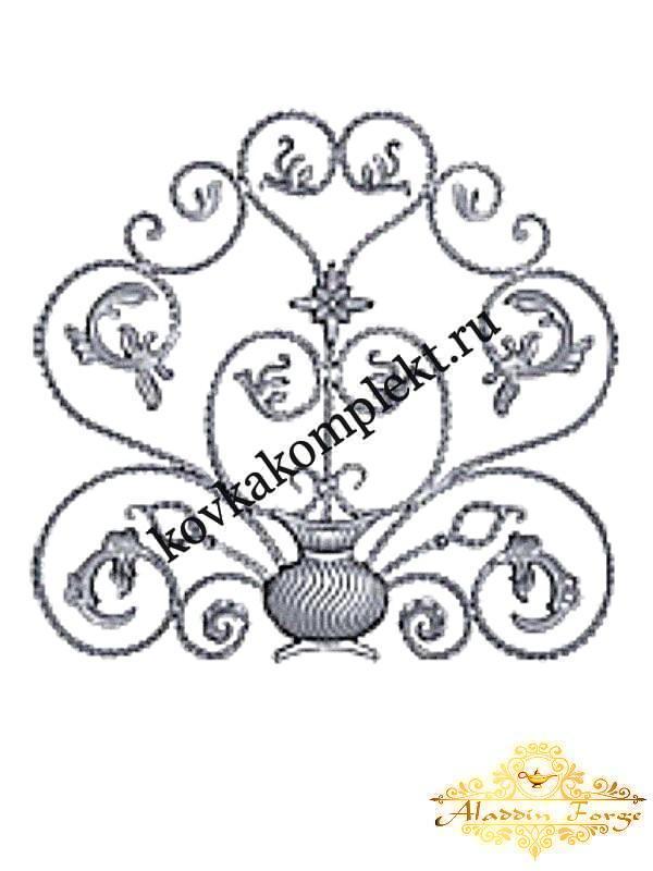 Розетка кованная 95 х 90 см (арт. 8611/1)