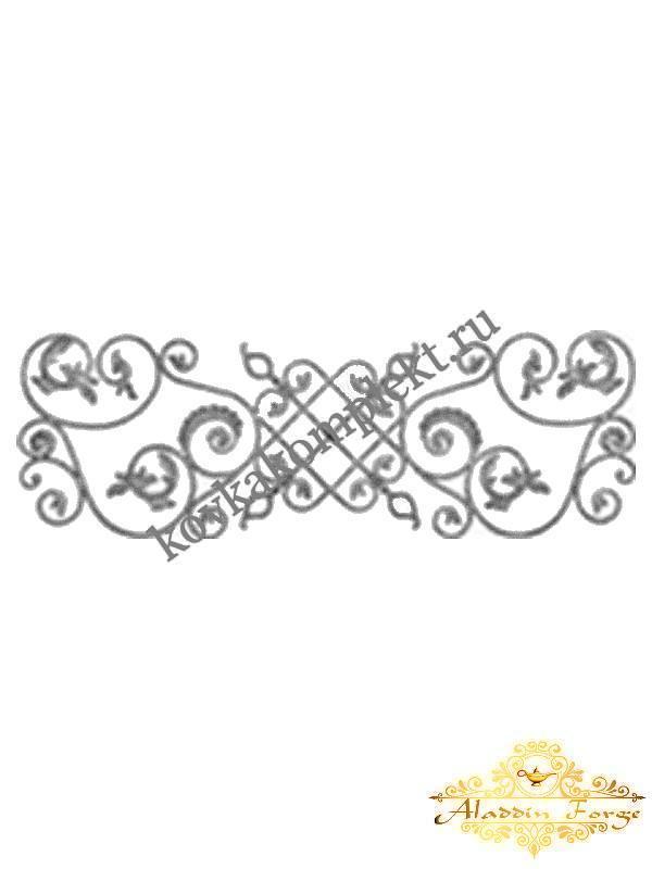 Розетка кованная 180 х 60 см (арт. 8610)