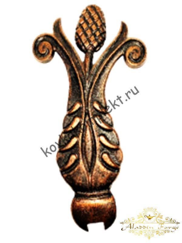 Кованый лист 12 х 22 см (арт. 3146)