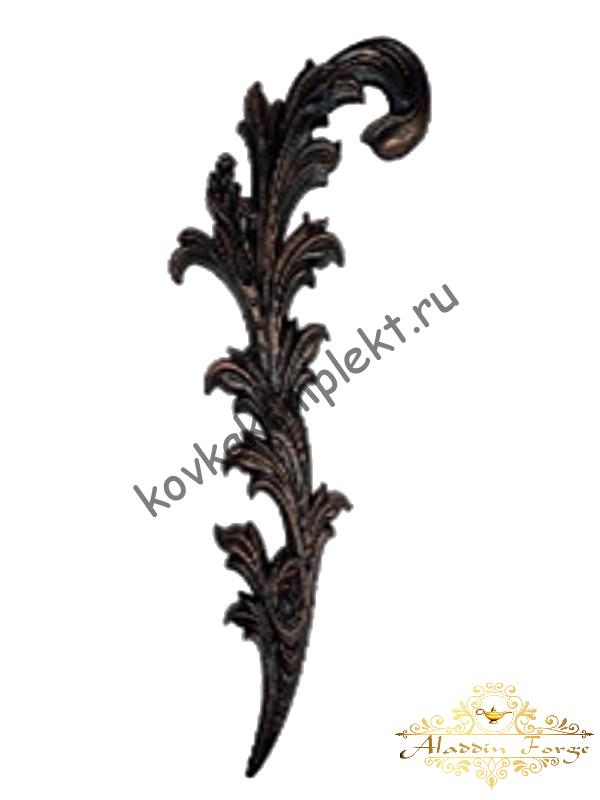 Кованый лист 50 х 20 см (арт. 4494)