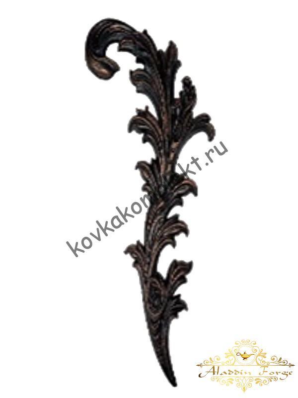Кованый лист 50 х 20 см (арт. 4494/1)