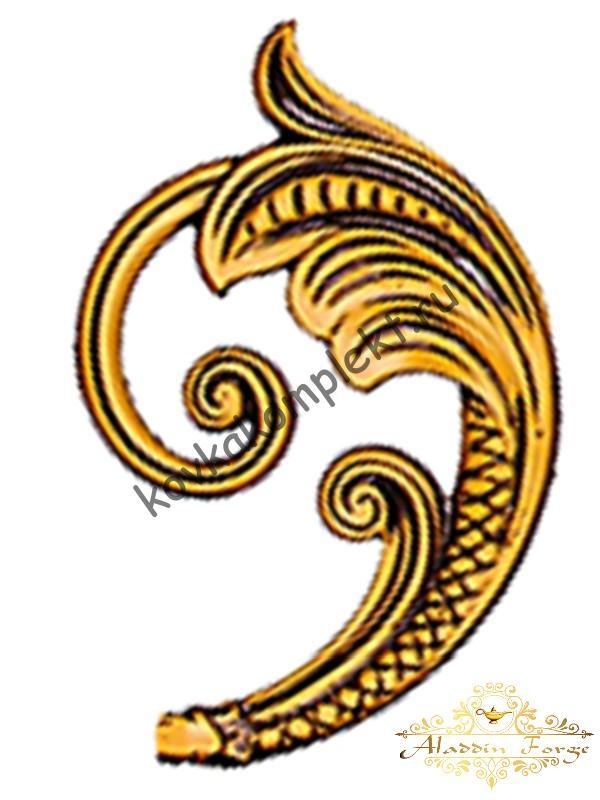 Кованый лист 13 х 20 см (арт. 3119/1)