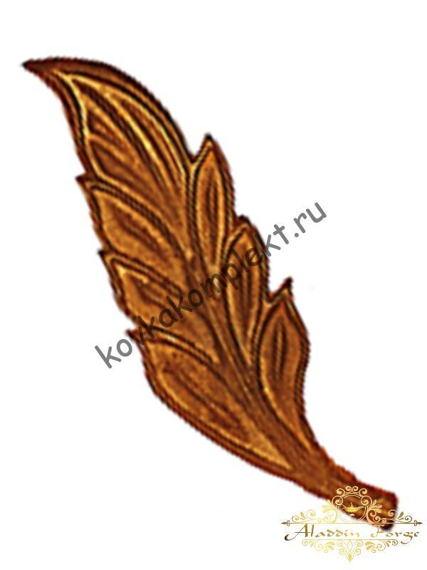 Кованый лист 6 х 20,5 см (арт. 3151)