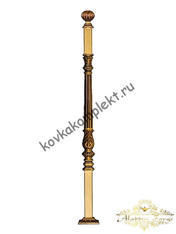 Столб кованый для перил 4 х 4 х 140 см (арт. 1908)