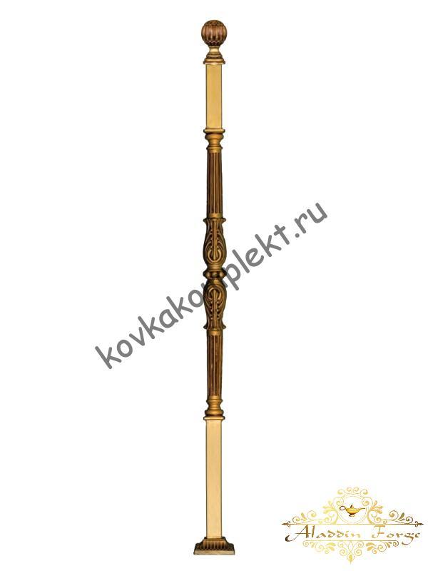 Столб кованый для перил 4 х 4 х 140 см (арт. 1909)
