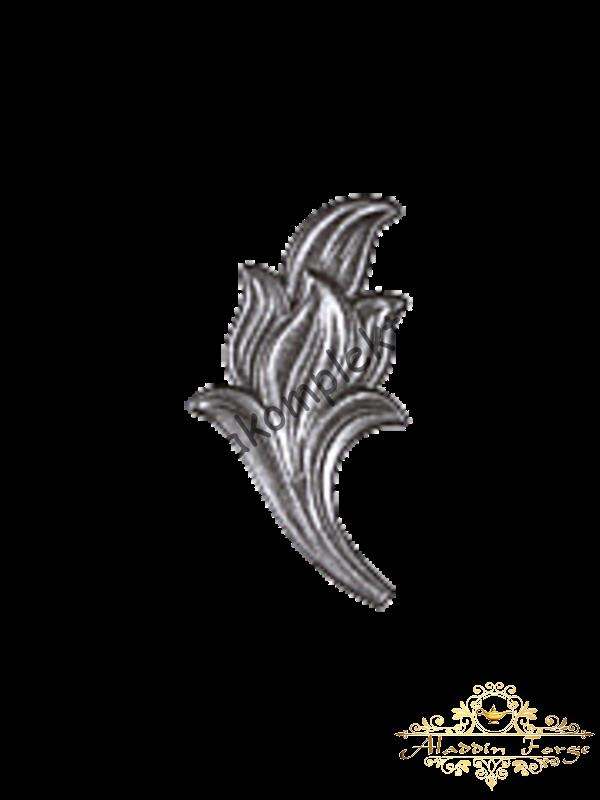 Кованый лист 7 х 14 см (арт. 3813/1)