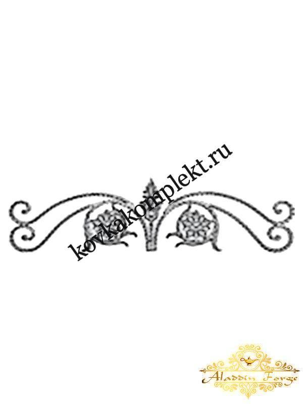 Корона кованая 110 х 30 см (арт. 5504)