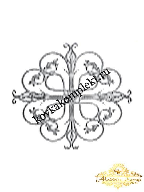 Розетка кованая 97 х 97 см (арт. 8603)