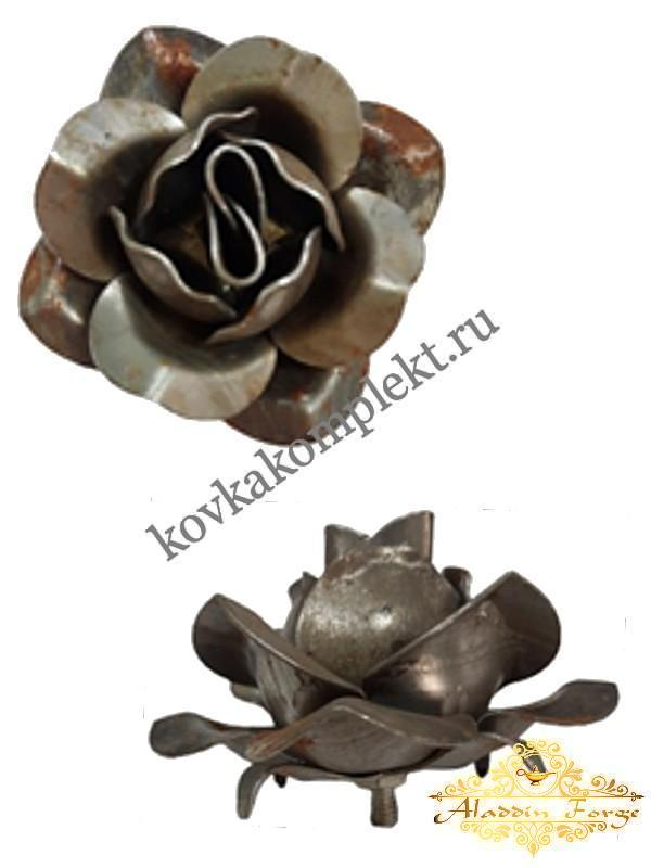Декоративный элемент «Роза» 9 х 5 см (арт. 7962)