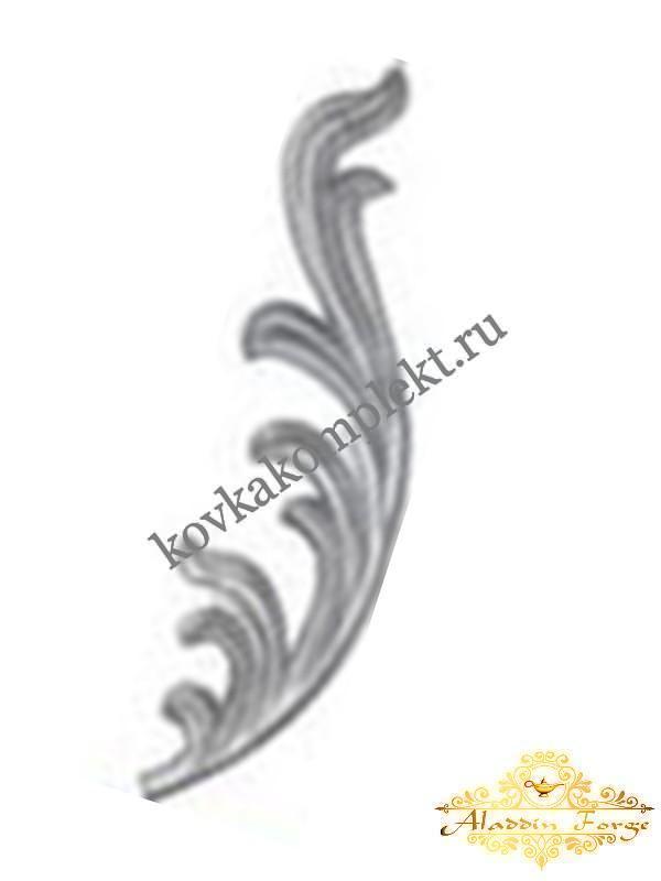 Кованый лист 10 х 40 см (арт. 3807)