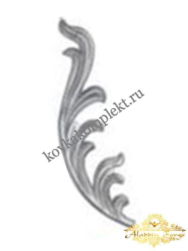 Кованый лист 10 х 40 см (арт. 3807/1)