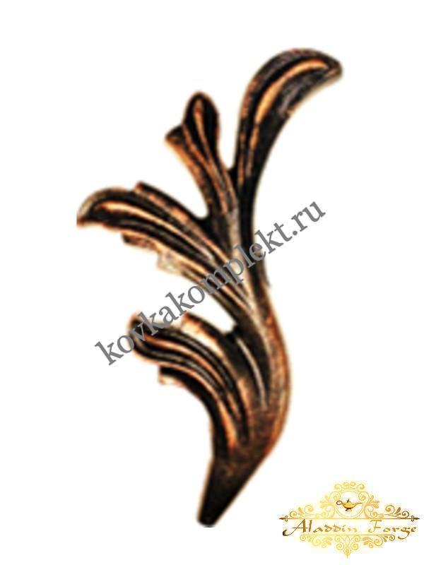 Кованый лист 6 х 22 см (арт. 3144/1)