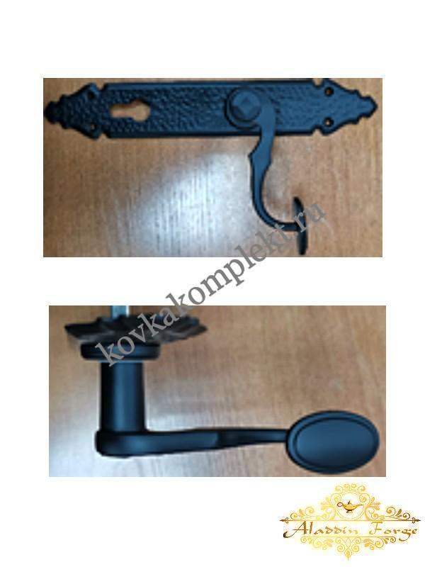 Ручка дверная HL333 (черная) (арт. 2740)