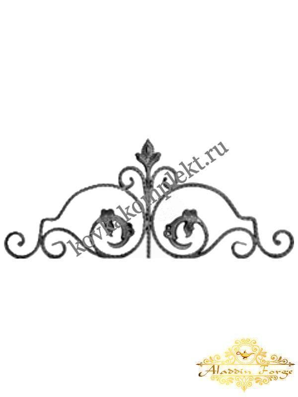 Розетка кованая 110 х 30 см (арт. 5501)