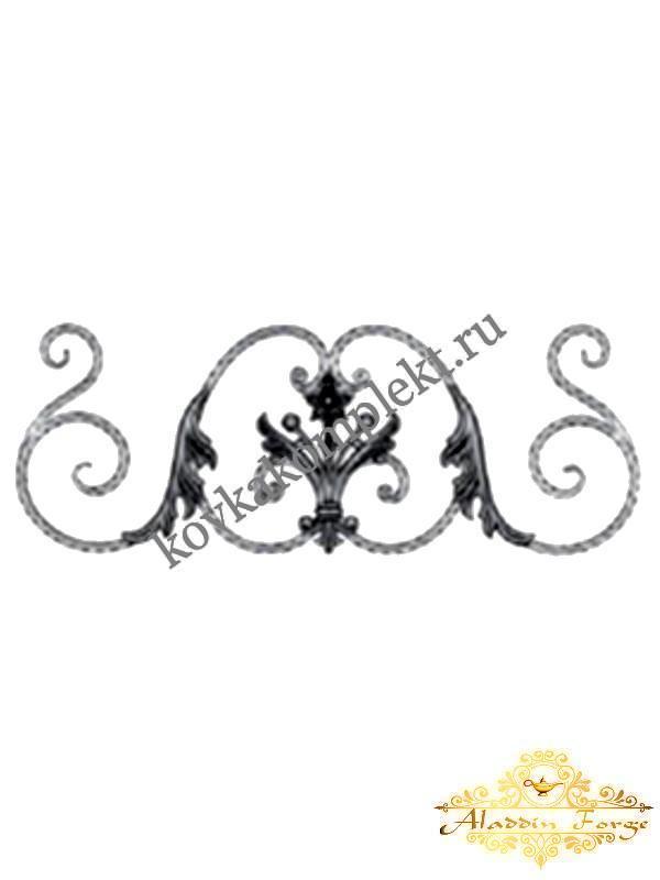 Розетка кованая 80 х 30 см (арт. 5507)