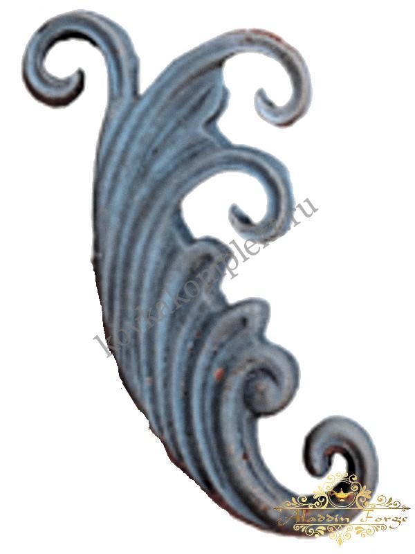 Кованый лист 20 х 10,5 см (арт. 3164)