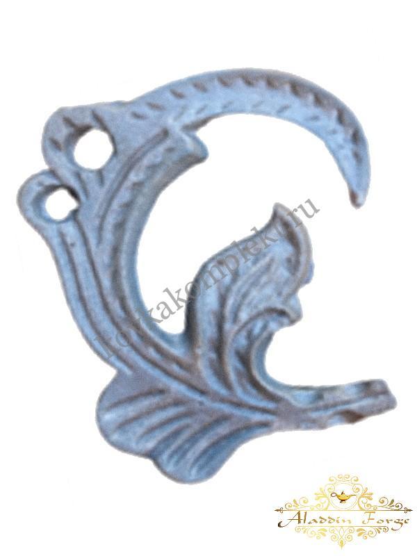 Кованый лист 15 х 12 см (арт. 3165)