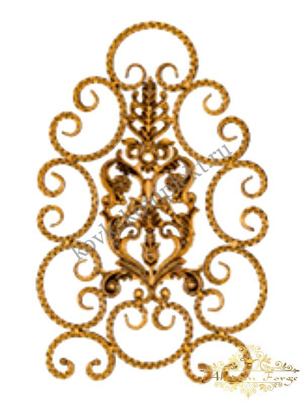Розетка кованая 49 х 75 см (арт. 8114)